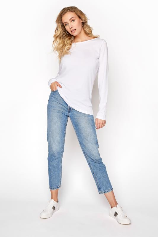 LTS White Scoop Neck T-Shirt