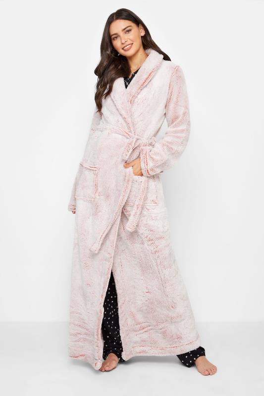 Tall  LTS Pink Soft Shawl Collar Dressing Gown