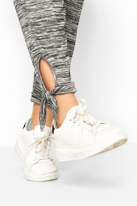 Grey Marl Tie Hem Joggers