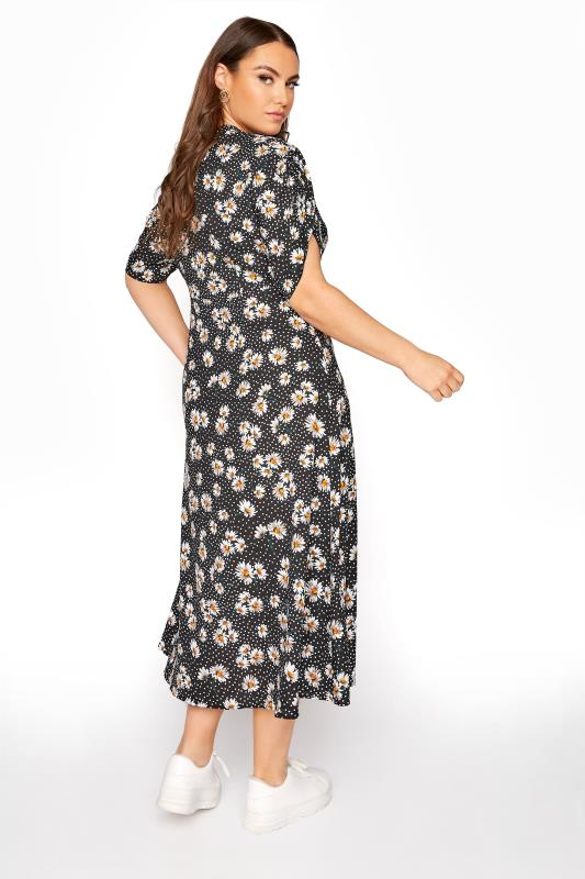 LIMITED COLLECTION Black Daisy Ruched Maxi Dress_C.jpg