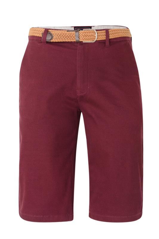 KAM Burgundy Dobby Print Woven Shorts
