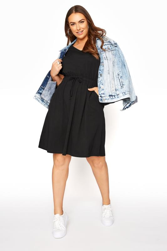 Black Jersey T-Shirt Mini Dress_B.jpg