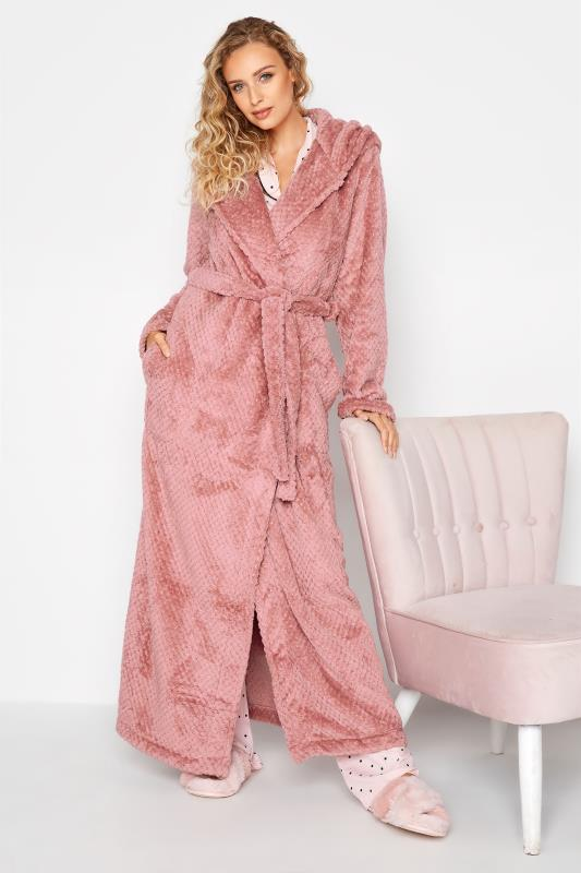 Tall  LTS Pink Waffle Hooded Dressing Gown