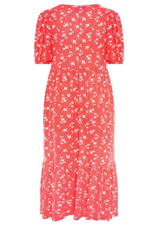 Red Floral Short Sleeve Midi Dress_BK.jpg