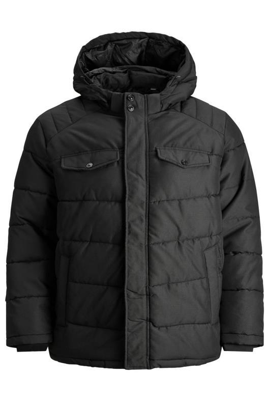 JACK & JONES Black Regan Puffer Jacket