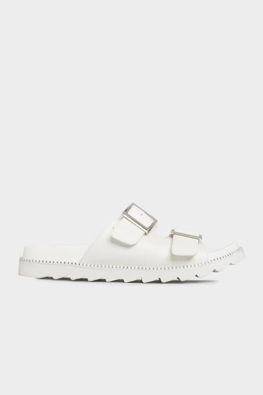 LIMITED COLLECTION White Stud Buckle Sandals In Extra Wide Fit_A.jpg