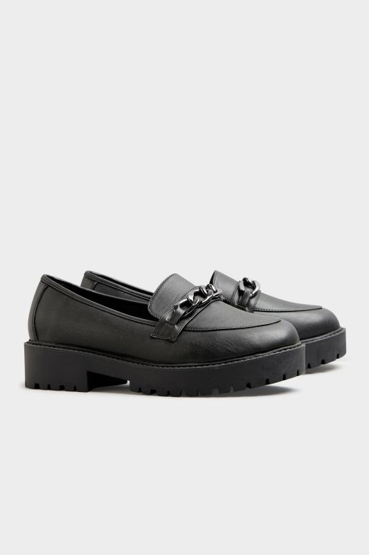 LIMITED COLLECTION Black Chunky Loafers In Extra Wide Fit_C.jpg