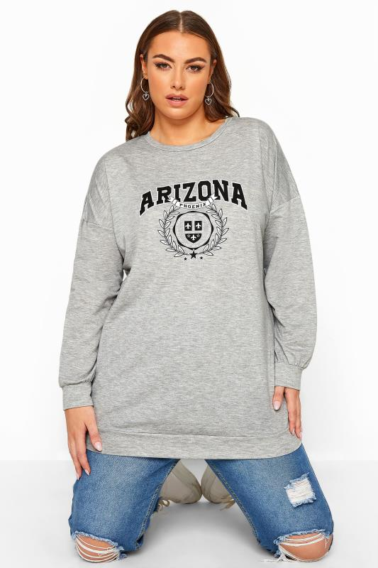Plus Size Sweatshirts LIMITED COLLECTION Grey Marl Arizona Sweatshirt