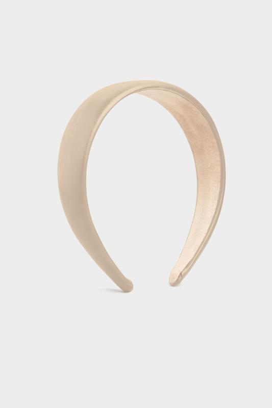 Nude PU Plain Headband