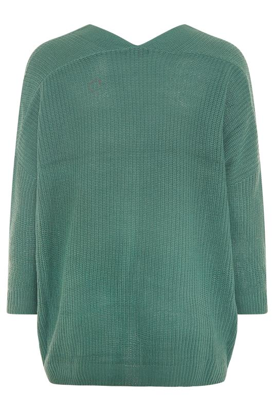 Green Button Knitted Cardigan_BK.jpg