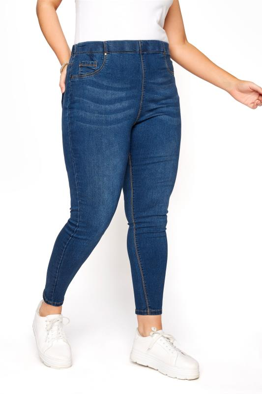 Grande Taille Mid Blue Pull On JENNY Jeggings