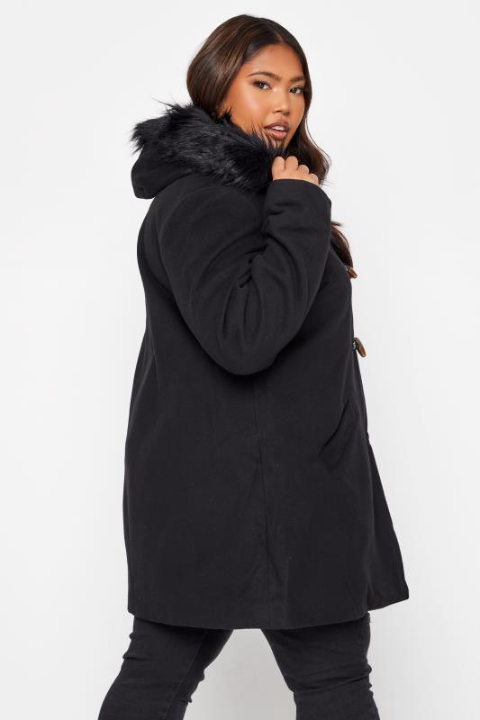 Black Faux Fur Trim Duffle Coat_E.jpg