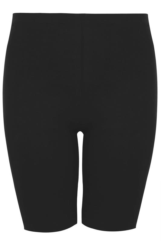 Black Basic Jersey Cycling Shorts