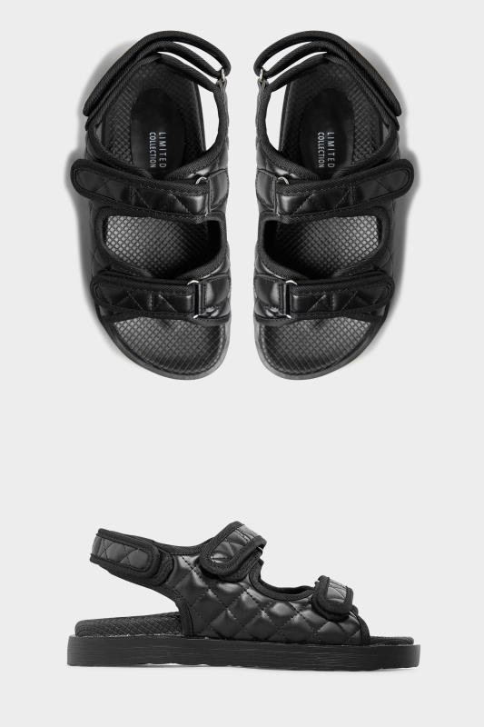 Black Quilted Velcro Sandal_A.jpg