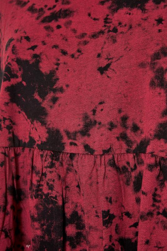 Pink Tie Dye Cotton Peplum Top_S.jpg