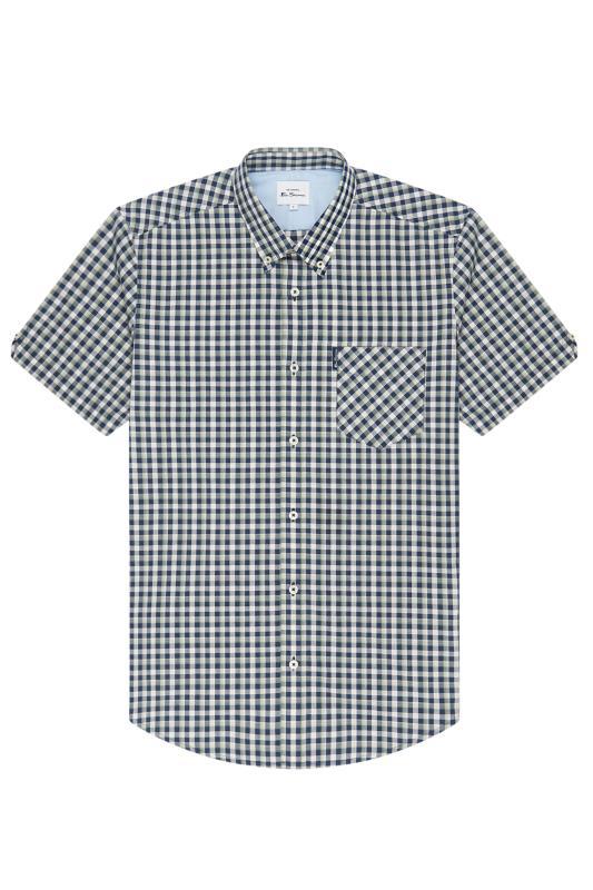Plus Size  BEN SHERMAN Blue Gradient Check Shirt