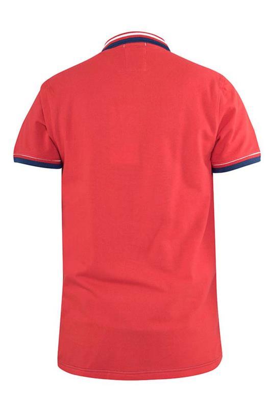 D555 Couture Navy Fremantle Colour Block Polo Shirt