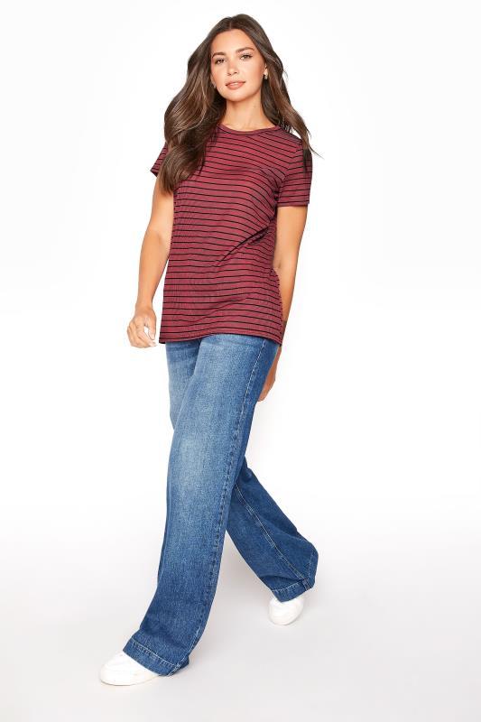 LTS Burgundy Stripe Rib T-Shirt_B.jpg