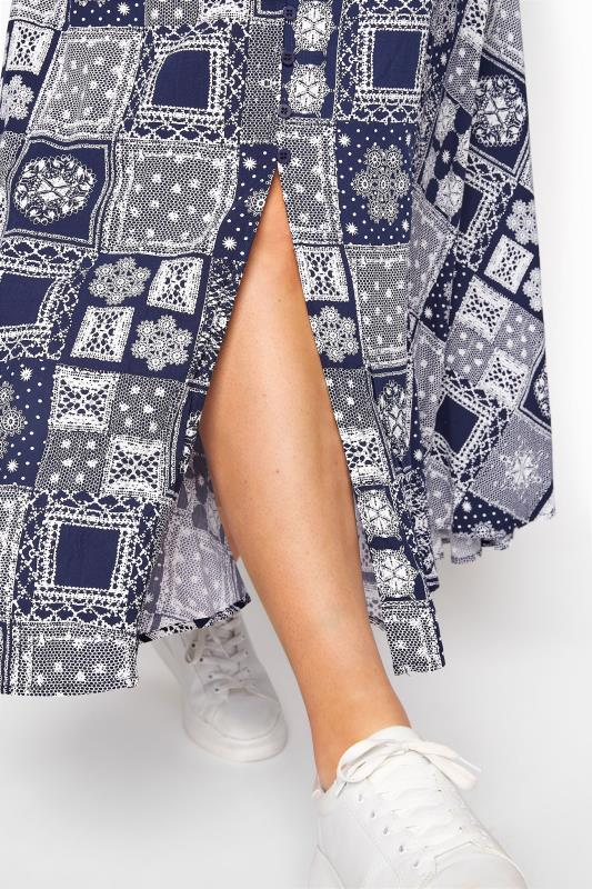 BUMP IT UP MATERNITY Dark Blue Tile Print Maxi Dress_D.jpg