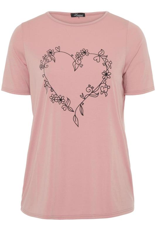 LIMITED COLLECTION Blush Pink Heart Print T-Shirt_f.jpg