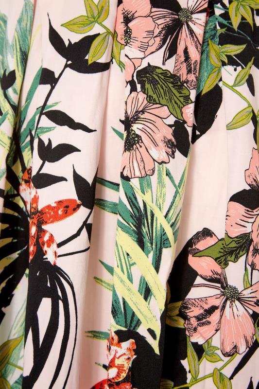 Pink Tropical Print Skater Dress_S.jpg
