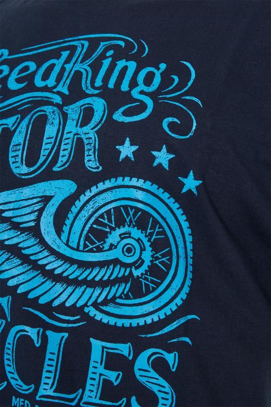 BadRhino Navy Motor Cycles T-Shirt