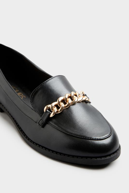 Black Chain Loafers In Extra Wide Fit_E.jpg