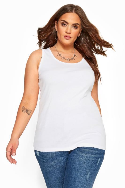 Plus Size Vests & Camis White Vest Top