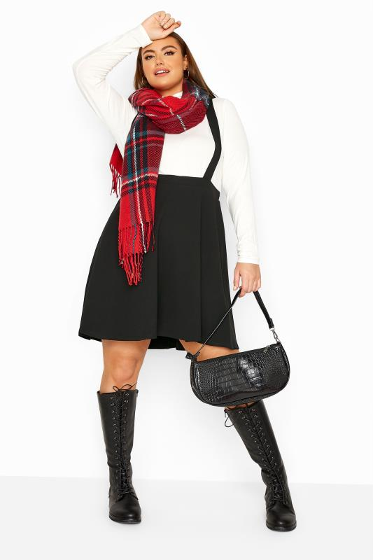 Plus Size  LIMITED COLLECTION Black Pinafore Skater Skirt