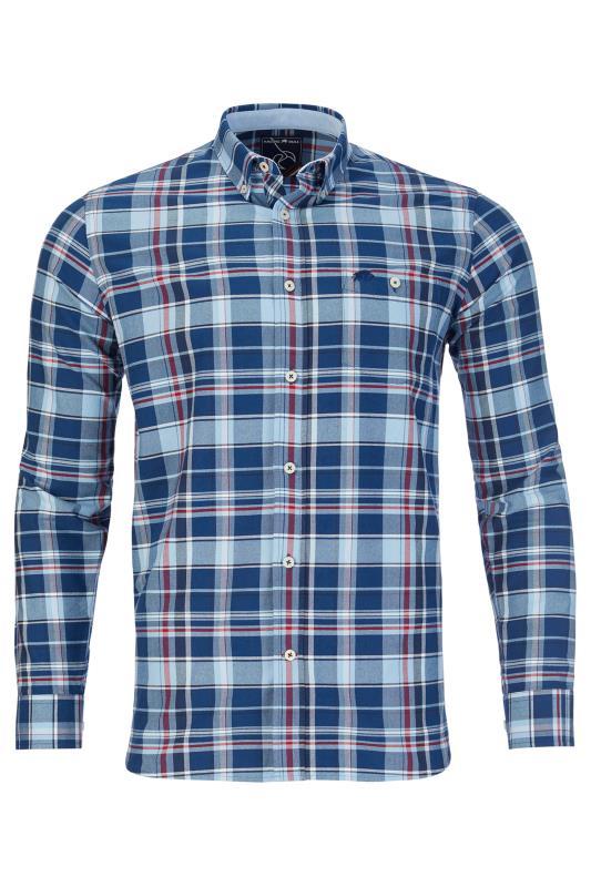 RAGING BULL Blue Check Oxford Shirt_F.jpg