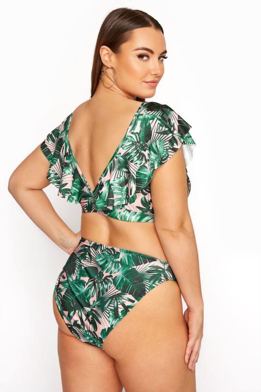 LIMITED COLLECTION Green Palm High Leg Bikini Briefs_E.jpg