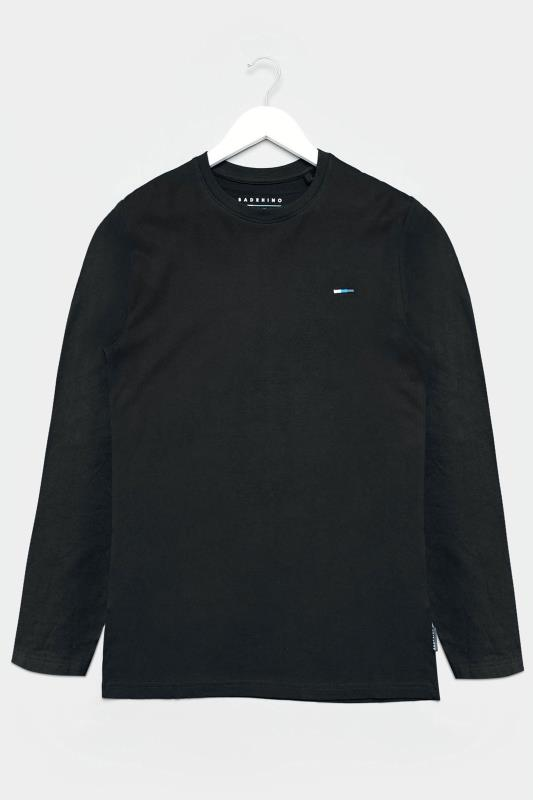 BadRhino Black Plain Long Sleeve T-Shirt