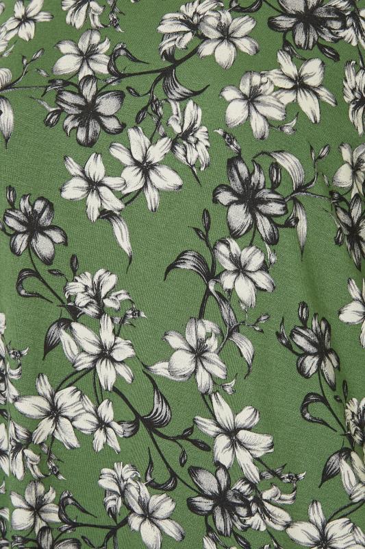 Green Floral Split Hem Tunic_S.jpg