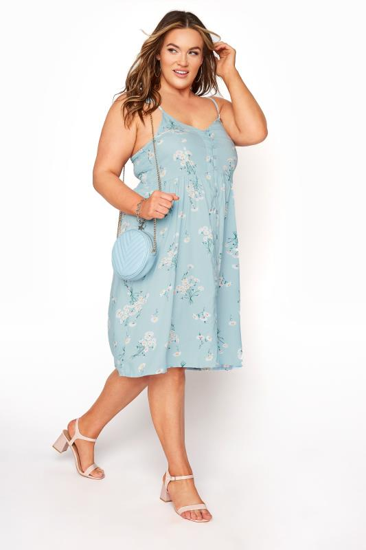 Blue Floral Button Front Cami Dress_B.jpg