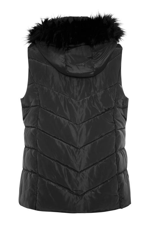 Black Faux Fur Hood Padded Gilet_BK.jpg
