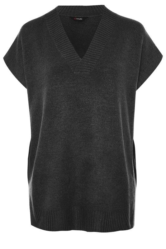 Tallas Grandes Black Longline Knitted Vest