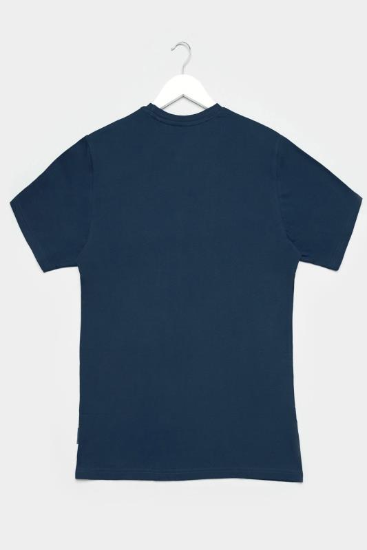 BadRhino Navy Marl Performance Print T-Shirt