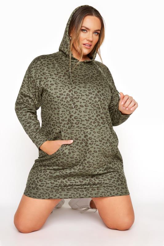 Green Leopard Pocket Hoodie