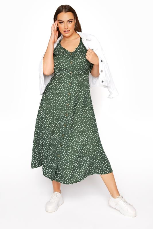 LIMITED COLLECTION Sage Ditsy Maxi Tea Dress_B.jpg