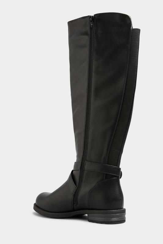 Black Faux Leather Knee High Boots In Extra Wide Fit_C.jpg