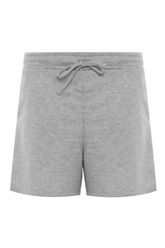 LTS Grey Marl Jersey Sweat Shorts_F.jpg