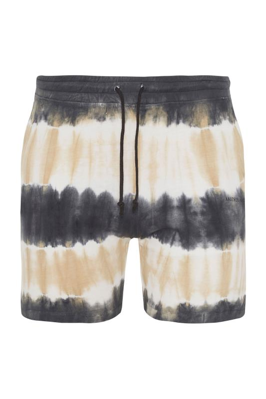ANOTHER INFLUENCE Charcoal Tie Dye Jogger Shorts_F.jpg