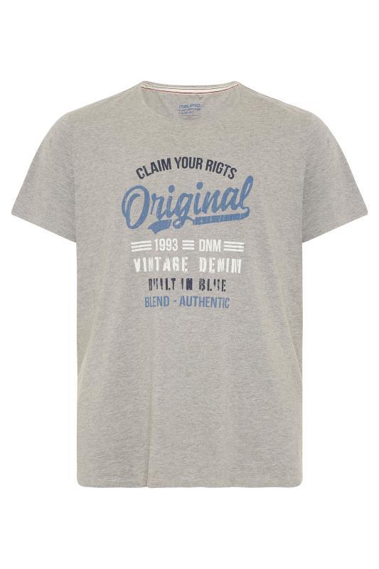 Plus Size  BLEND Grey Marl Original T-Shirt