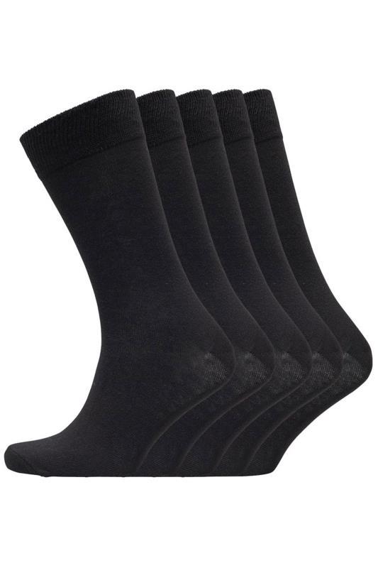 BENCH 5 PACK Black Fred Crew Socks