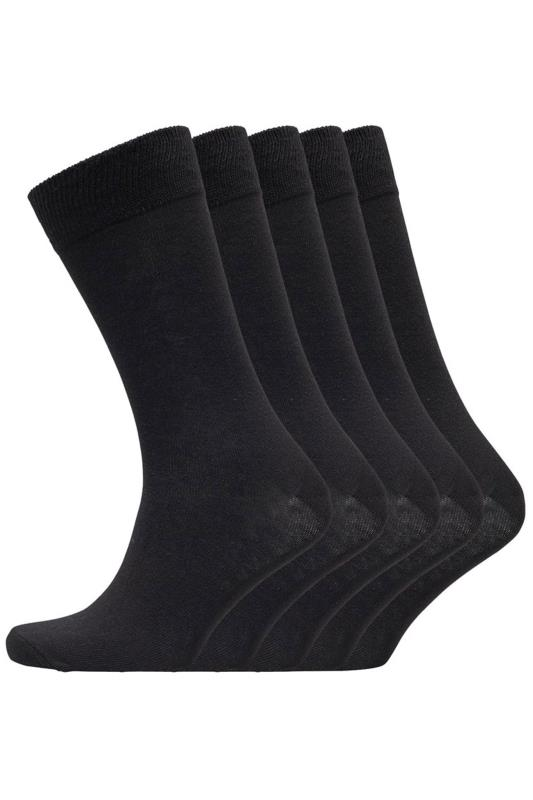 Plus Size Casual / Every Day BENCH 5 PACK Black Fred Crew Socks