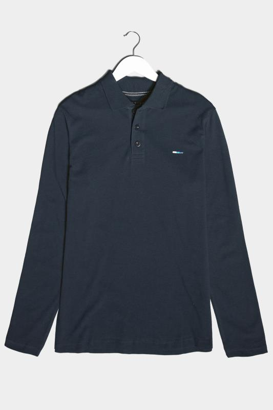 Men's  BadRhino Navy Essential Long Sleeve Polo Shirt