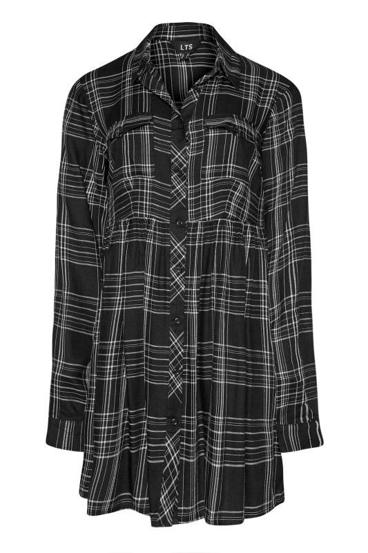 LTS Black Check Peplum Shirt_F.jpg
