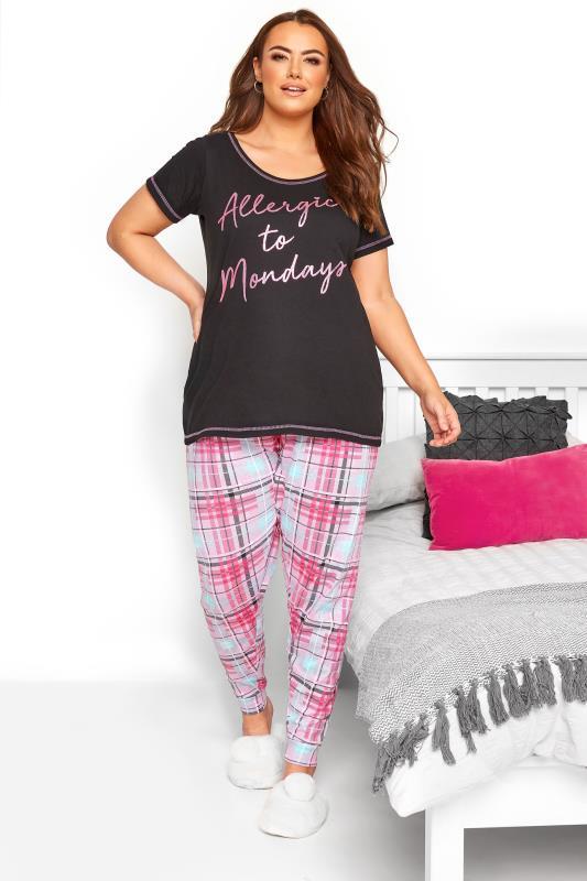 Pink Check Pyjama Bottoms