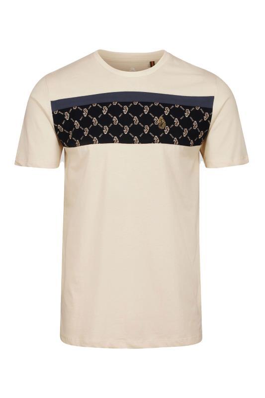 Men's  LUKE 1977 Cream Lion Printed T-Shirt