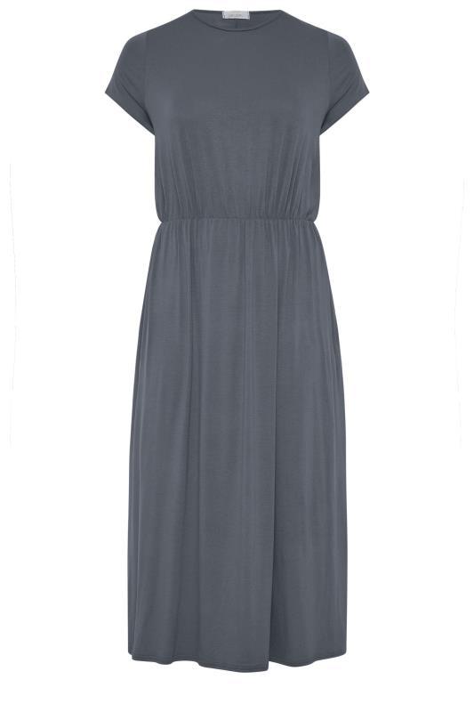 YOURS LONDON Grey Pocket Maxi Dress_F.jpg